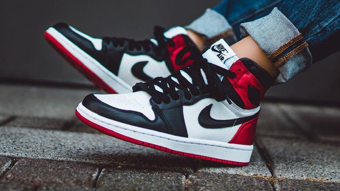 How to Spot a Fake Air Jordan 1 High Satin Black Toe - KLEKT Blog