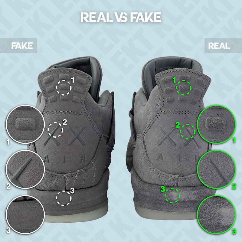 Fake Air Jordan 4 x Kaws 'Cool Grey