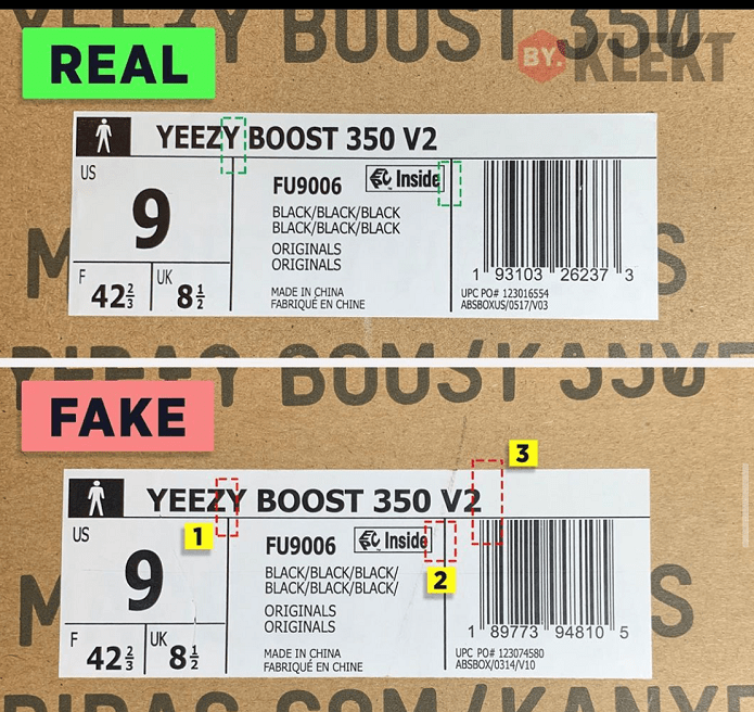 How To Spot a Replica Yeezy Boost 350