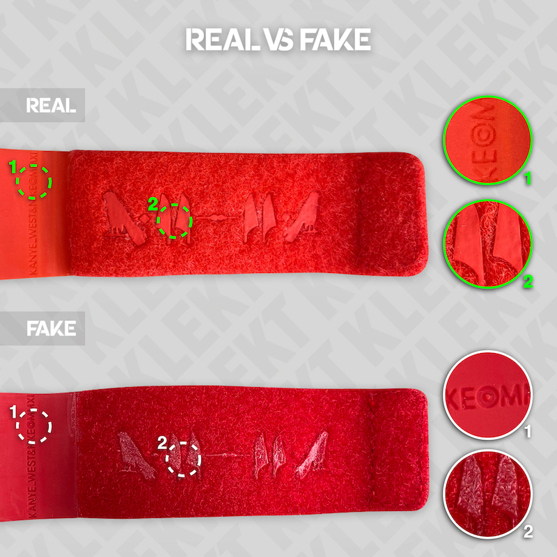 yeezy red october fake
