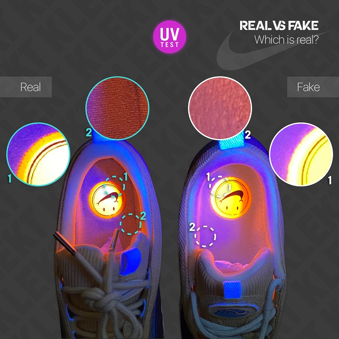 How to Spot a Fake Sean Wotherspoon Nike Air Max 97/1 - KLEKT Blog