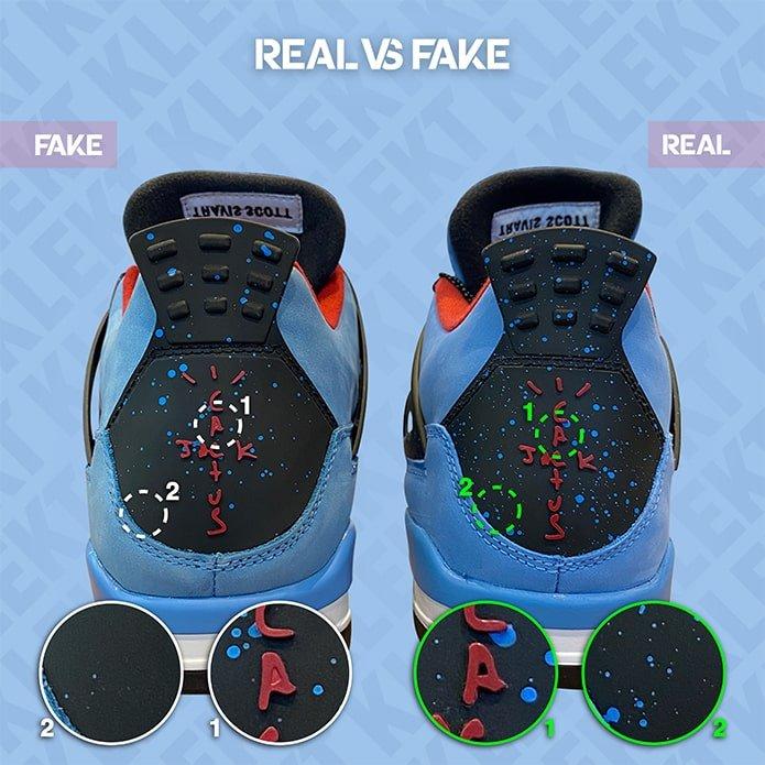 Fake Travis Scott x Air Jordan 4