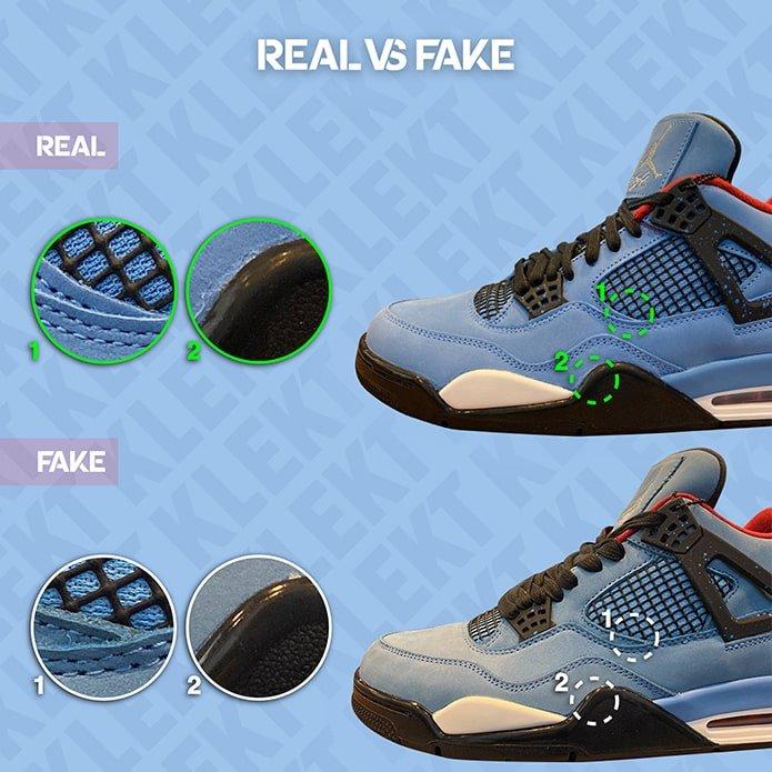 How to Spot a Fake Travis Scott x Air Jordan 4: A Complete Guide ...