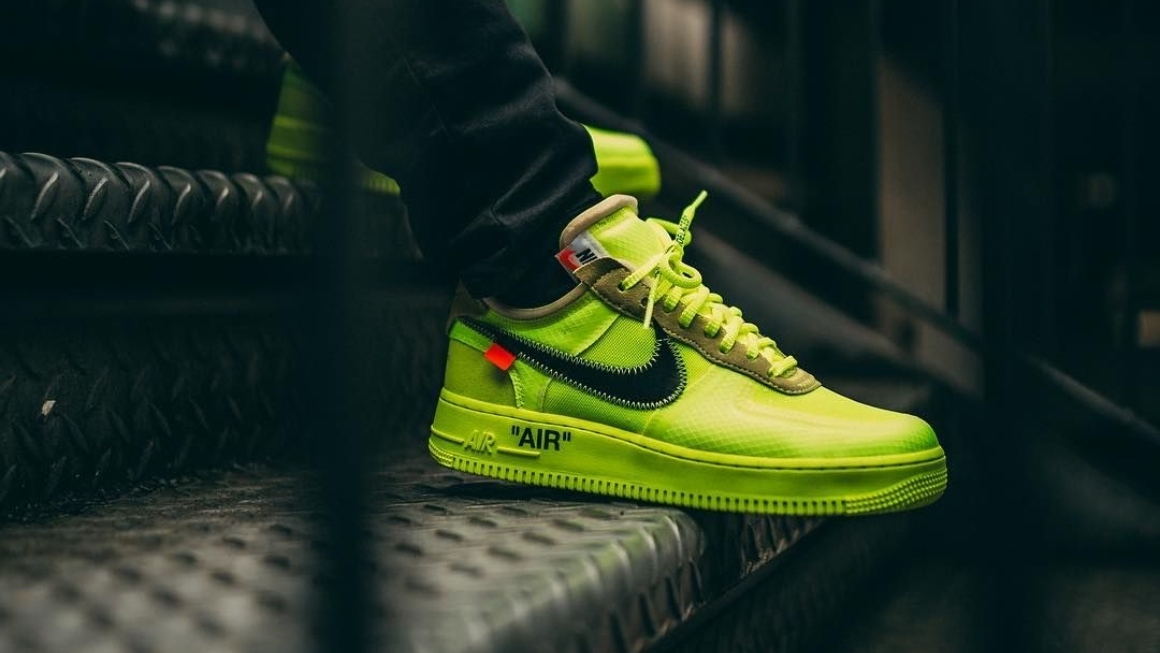 How To Spot A Fake Off White X Nike Air Force 1 Volt Klekt Blog