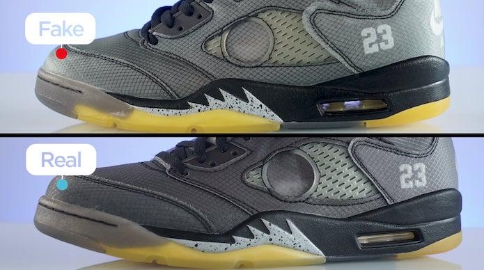 How to Spot a Fake Off-White™ x Air Jordan 5